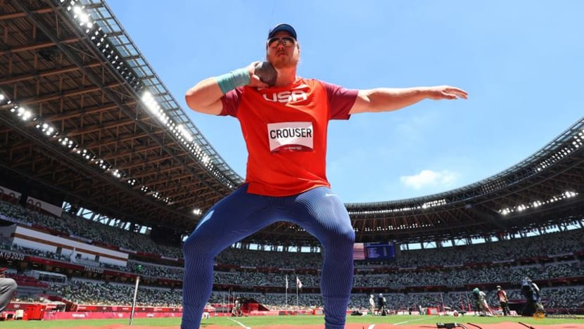 Olympics-Athletics-Crouser wins gold in men's shot put, breaks Olympic record