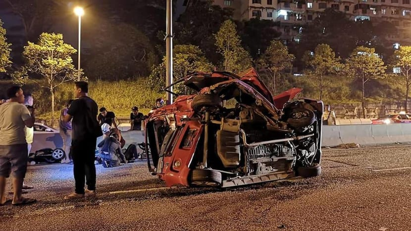 Baby killed, parents severely injured in Johor car accident