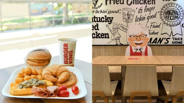 无论是否接种疫苗 Burger King、KFC仅限2人堂食