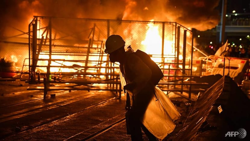 In photos: Fire, tear gas and petrol bombs as Hong Kong is gripped by another weekend of chaos