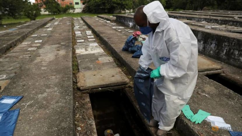 Sao Paulo exhumes old graves to make space for surging COVID-19 burials