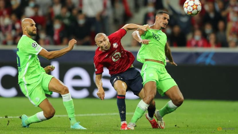 Football: Lille held by 10-man Wolfsburg in Champions League opener