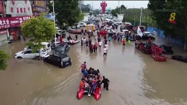 河南另外四个北部城市也发生严重水灾
