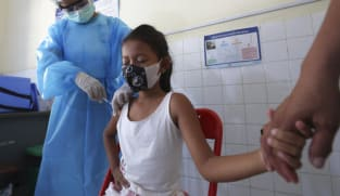 Cambodia giving COVID-19 vaccine to children aged 6 to 11 before schools reopen