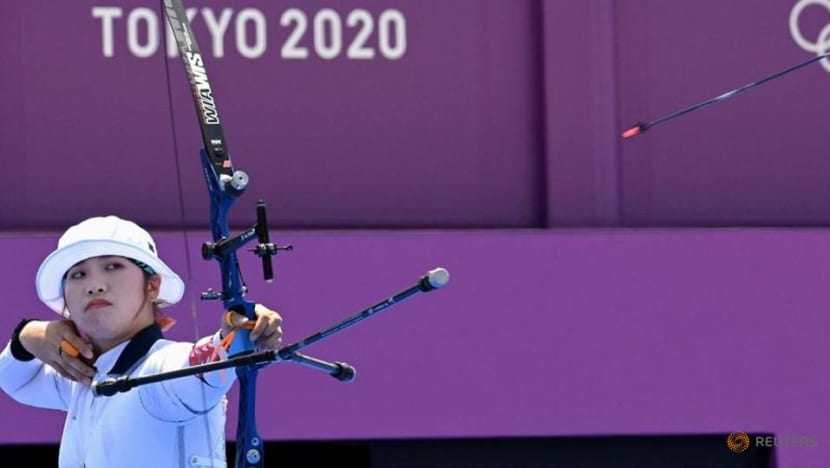 Olympics-Archery-S Korea's Jang knocked out in surprise loss to Japan's Nakamura