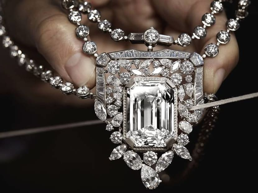 Love Chanel No 5? This necklace interprets the iconic perfume with diamonds