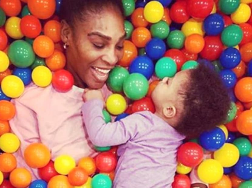 Serena Williams threw a belated but grand party for her daughter