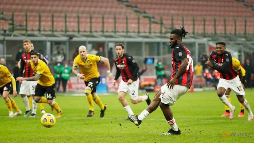 Football: Last-gasp Kessie penalty rescues draw for AC Milan against Udinese