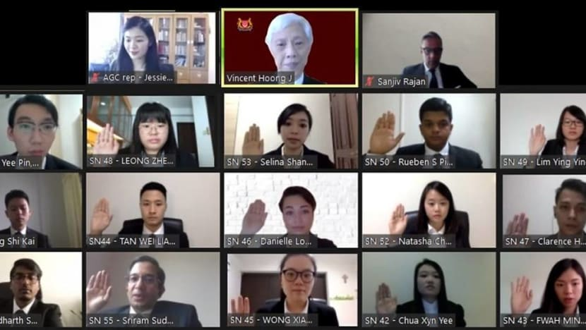'Surreal' and 'seamless': 115 lawyers called to the Bar via video conference in a first for Singapore