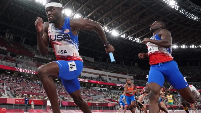 Olympics-Athletics-US men finally end gold drought with relay triumph