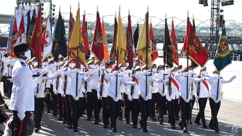 Quiet but dignified National Day ceremonial parade marks Singapore's 56th birthday amid tightened COVID-19 measures