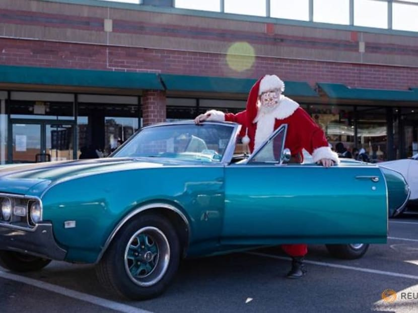 Santa skips court to deliver gifts in his convertible