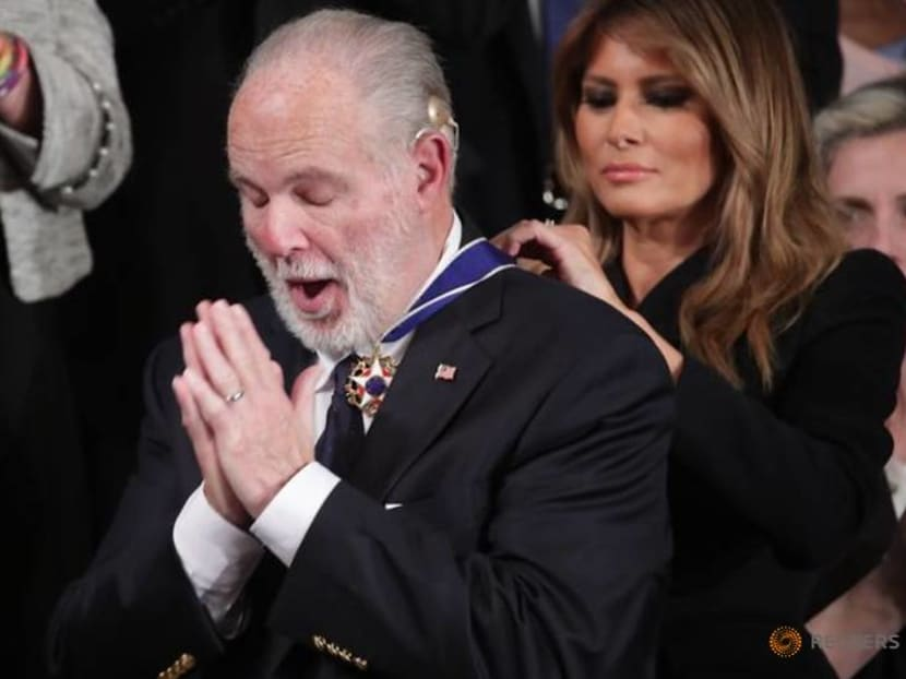 US conservative radio provocateur and Trump ally Rush Limbaugh dies