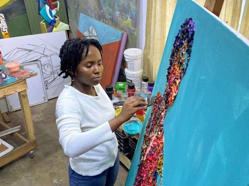 Cut from the same cloth, Nigerian waste fabric becomes art