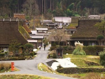 Why are tourists flocking to this Japanese village, which only has two B&Bs?