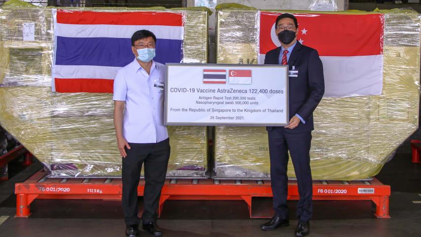 Singapore sends more than 120,000 doses of AstraZeneca COVID-19 vaccine to Thailand