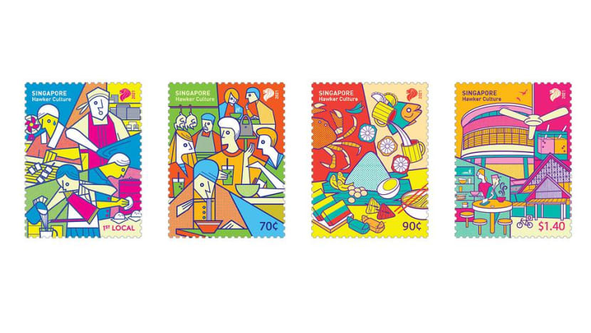 SingPost releases stamps to mark Singapore hawker culture UNESCO inscription