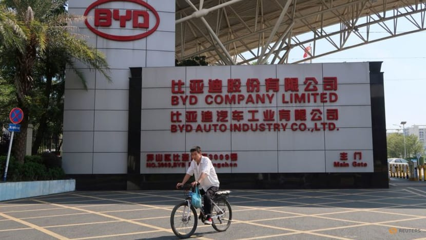 Chinese electric vehicle firm BYD profit down 29.4per cent in first half
