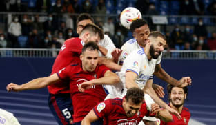Real Madrid held to goalless draw by high-flying Osasuna