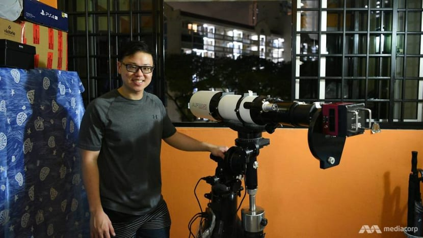 The astrophotographer who snaps images of stars and galaxies from his window