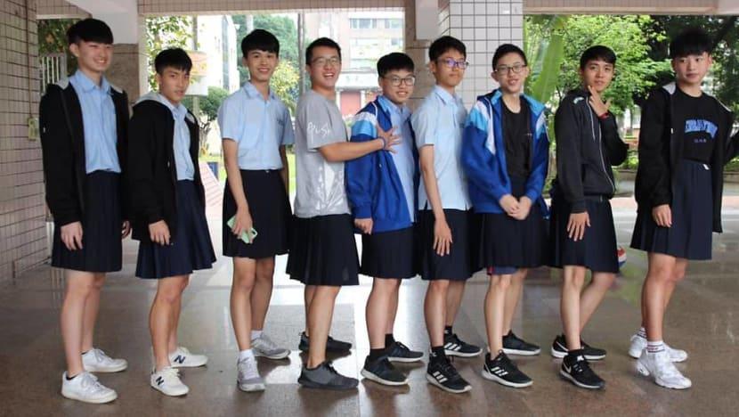 Boys can wear skirts under Taiwan school's gender-neutral uniform plan