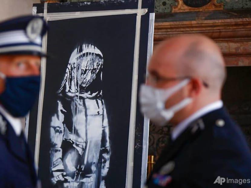Italy returns stolen artwork by Banksy to France on Bastille Day