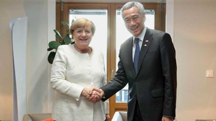 PM Lee, German Chancellor Merkel welcome upcoming signing of EU-Singapore trade deal
