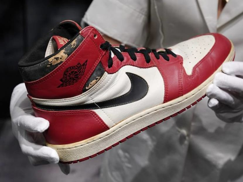 A pair of sneakers worn by Michael Jordan sells for record US$615,000