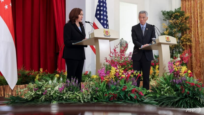 Watch: Joint press conference of Singapore PM Lee and US VP Harris