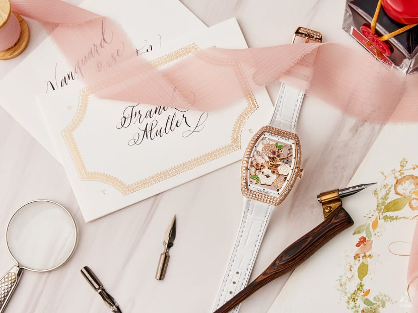 This diamond-studded skeleton watch is next-level wrist candy for women