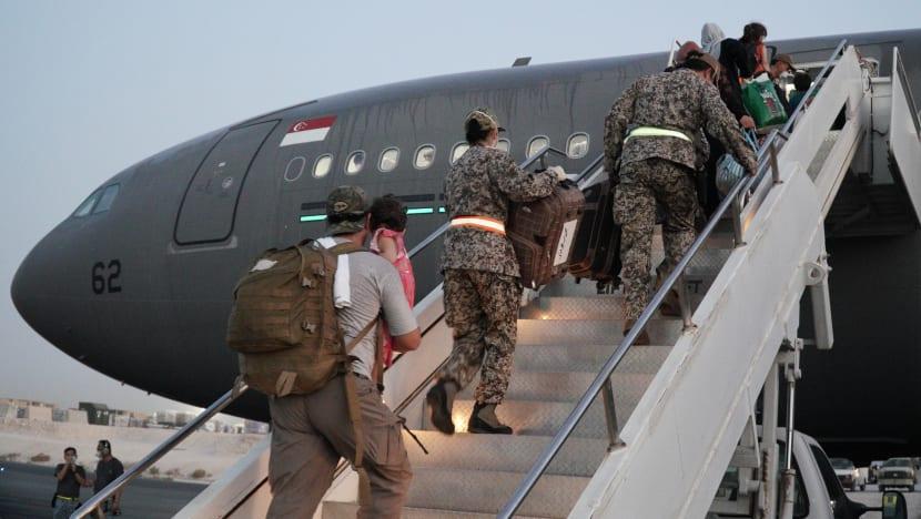 RSAF tanker-transport plane returns to Singapore after mission to help Afghan evacuees