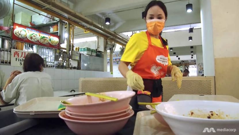 What would make Singaporeans return their trays? How about a siren?