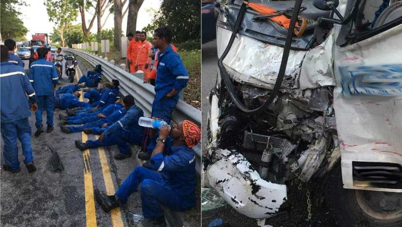 Workers in Jurong Island Highway accident mostly discharged, lorry driver suspended
