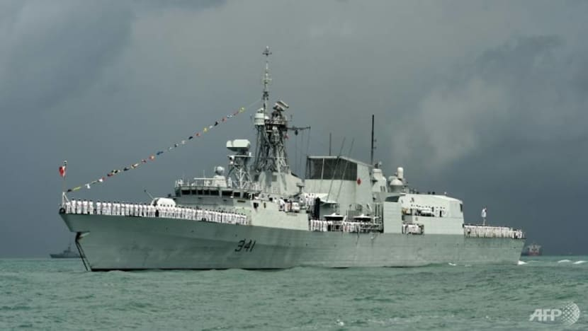China questions Canadian 'intentions' after warship sails through Taiwan Strait