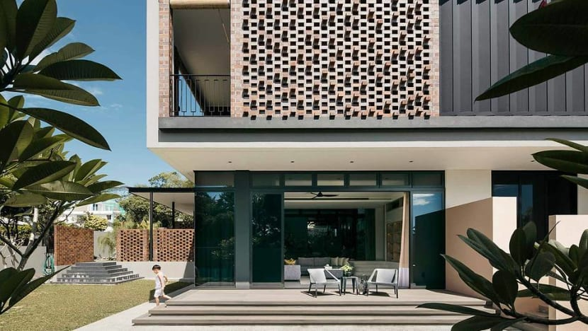 A brick house in Singapore shared by three generations of a family