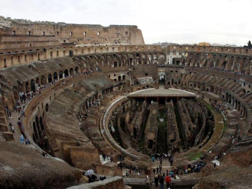 Italy unveils new hi-tech floor design for Colosseum area