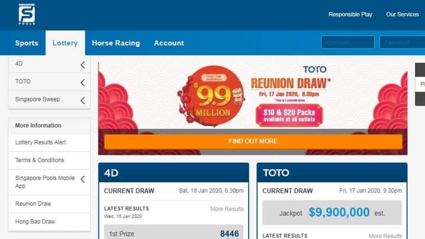 Singapore Pools' online Toto Quick Pick, System Roll hit by software errors; MHA investigating