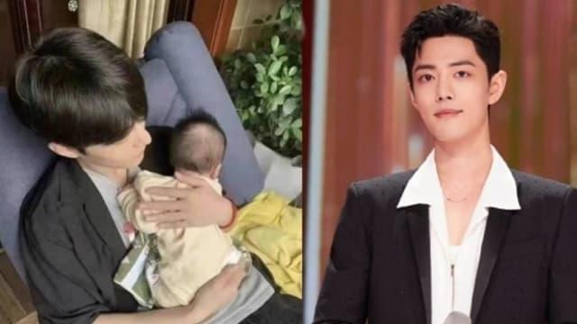 手抱婴儿照片疯传 肖战秘婚生子?