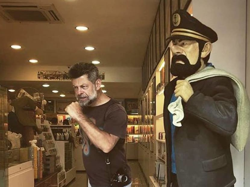 Andy Serkis does a playful Chinatown jaunt while in Singapore