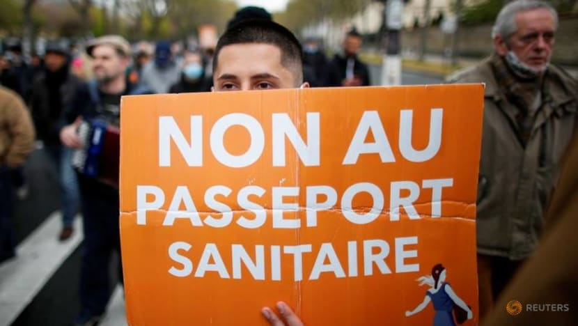 French police quell protest against COVID-19 health passport rules