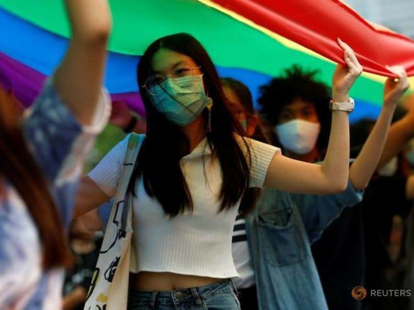 Thai LGBT and anti-government protesters join in Pride Parade
