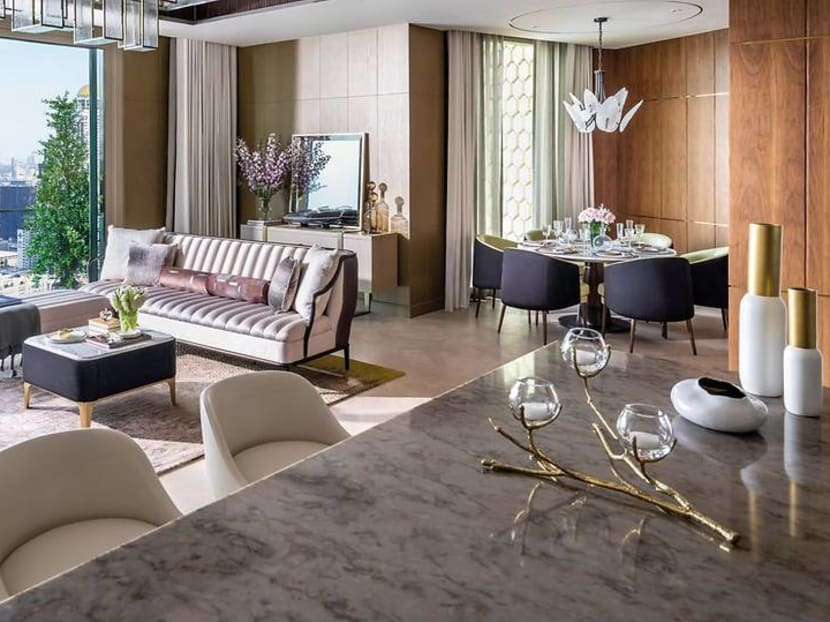 Bangkok freehold property: Hotel-style apartments atop a luxury shopping mall