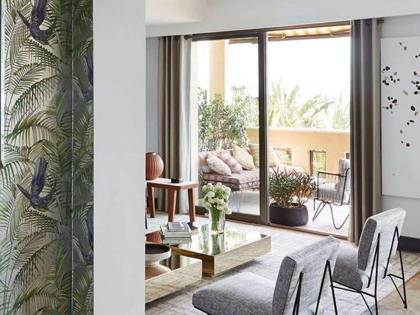 Home Tour: A chic Monaco apartment where 70s glamour meets tropical flair