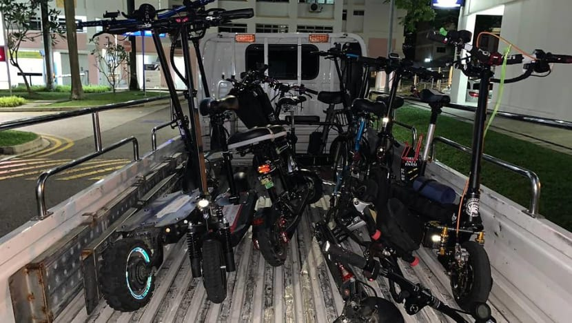 LTA impounds 10 PMDs after riders caught flouting rules