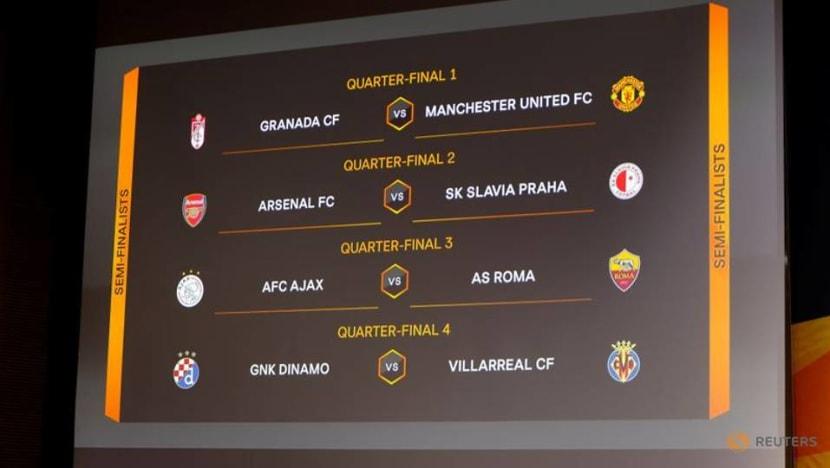 Man United face Granada in Europa League last eight, Arsenal meet Slavia Prague