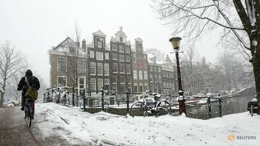Lockdown by nature: Dutch told to stay home as blizzards blast in
