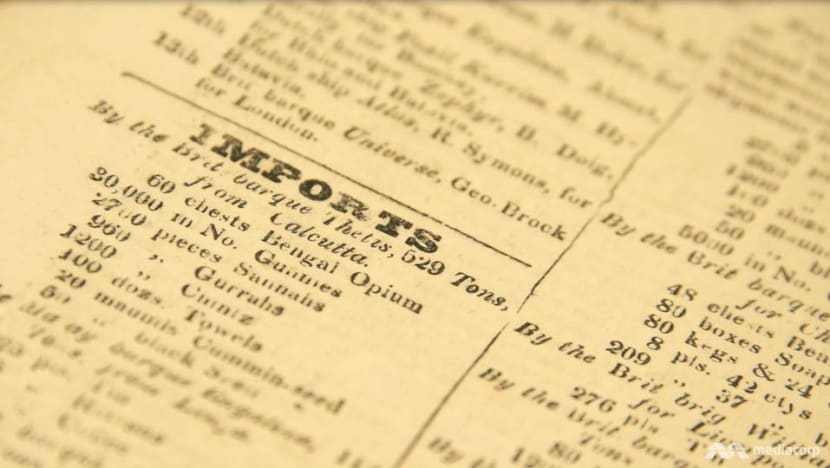 Ivory, rifles and opium: NLB's rare collection reveals Singapore's 19th-century shopping list