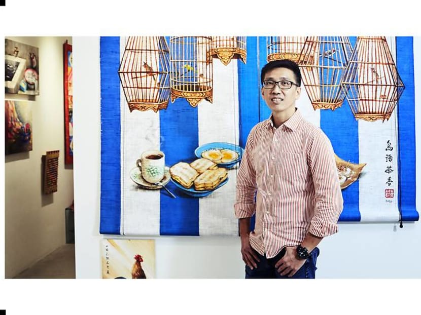 Singapore street artist Yip Yew Chong's first series of nostalgic paintings sells out in a flash