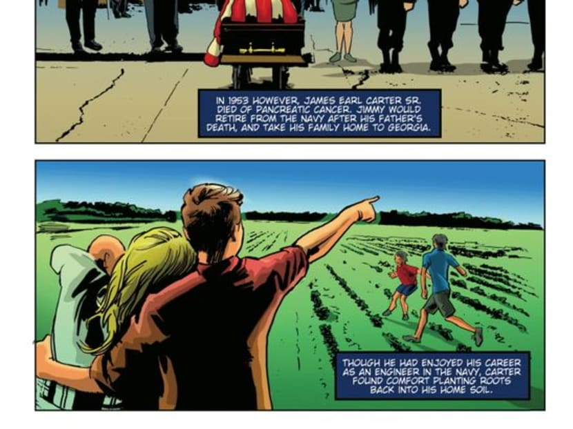 New comic book highlights life of US President Jimmy Carter