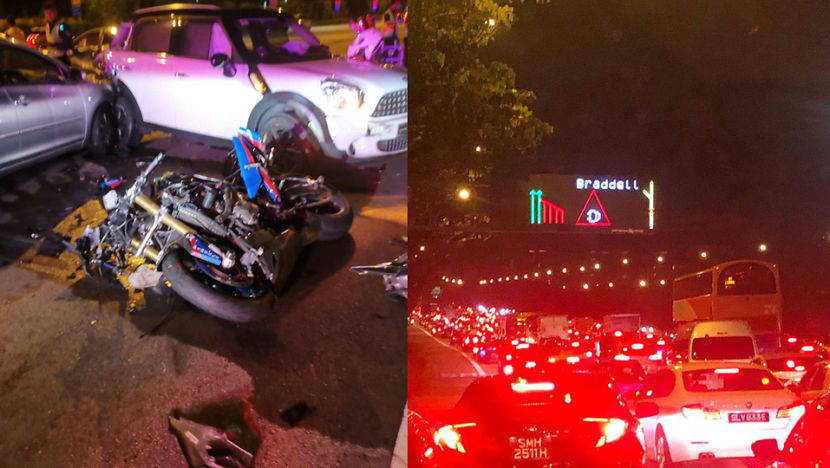 Motorcyclist dies after multi-vehicle accident on CTE; driver arrested